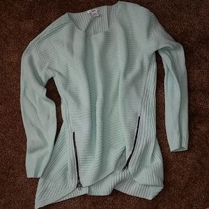Bar lll Side Zip Cozy Sweater-Minty Green